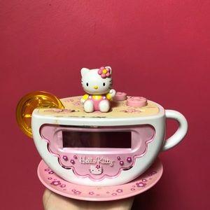 Vintage Hello Kitty Teacup Alarm Clock